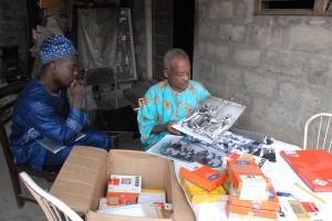 Franck Ogou and photographer Benoit Adjovi, Cotonou, Benin, c. Resolution 2013