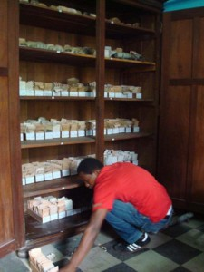 A cupboard full of negatives in the Press Photo Archives, Buea, Cameroon. © Rosario Mazuela