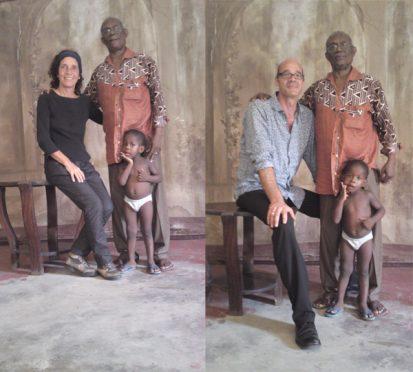 6.- Portraits de Cyrille Doualla avec Rosario Mazuela et Jürg Schneider dans le Studio George disparu, 2013